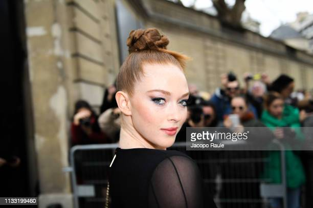 Larsen Thompson attends the Elie Saab show as part of the Paris Fashion Week Womenswear Fall/Winter 2019/2020 on March 02 2019 in Paris France