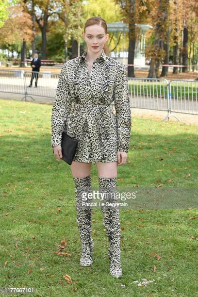 Larsen Thompson attends the Elie Saab Womenswear Spring/Summer 2020 show as part of Paris Fashion Week on September 28 2019 in Paris France
