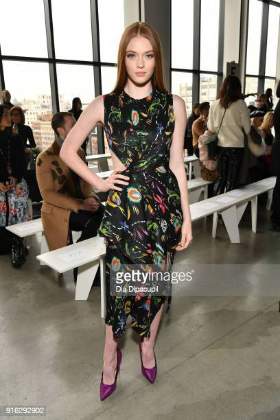 Larsen Thompson attends the Jason Wu front row during New York Fashion Week The Shows at Gallery I at Spring Studios on February 9 2018 in New York...