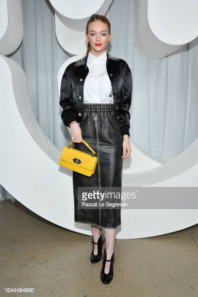Larsen Thompson attends the Miu Miu show as part of the Paris Fashion Week Womenswear Spring/Summer 2019 on October 2 2018 in Paris France