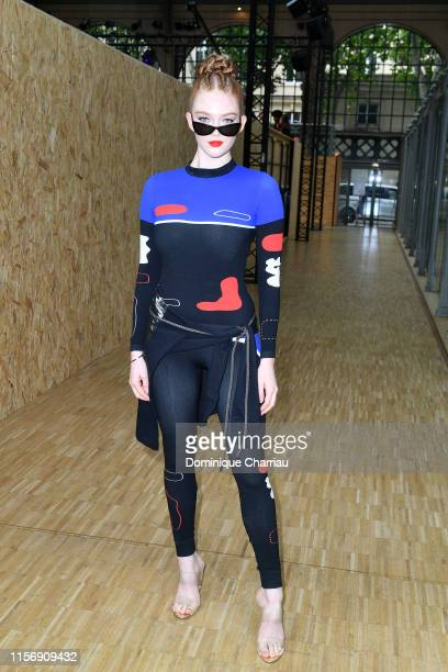 Larsen Thompson attends the OffWhite Menswear Spring Summer 2020 show as part of Paris Fashion Week on June 19 2019 in Paris France