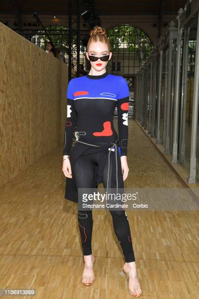 Larsen Thompson attends the Off-White Menswear Spring Summer 2020 show as part of Paris Fashion Week on June 19, 2019 in Paris, France.