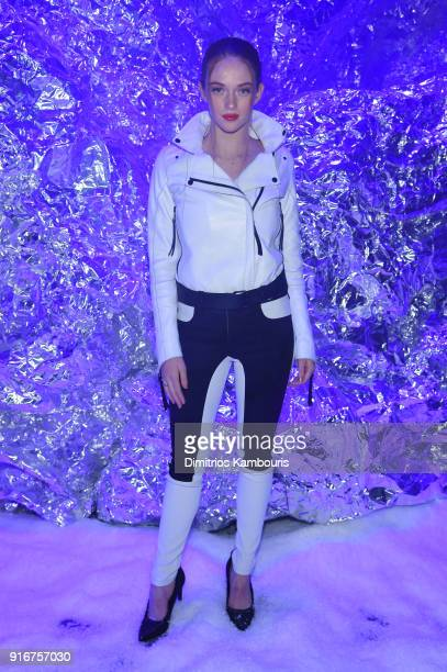 Larsen Thompson attends the Philipp Plein fashion show during New York Fashion Week The Shows on February 10 2018 in New York City