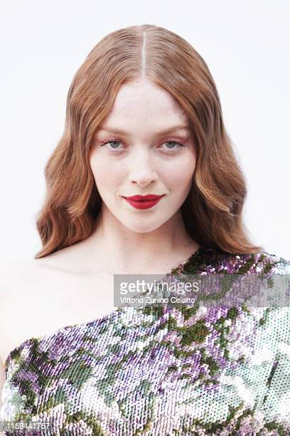 Larsen Thompson attends the RalphRusso Haute Couture Fall/Winter 2019 2020 show as part of Paris Fashion Week on July 01 2019 in Paris France