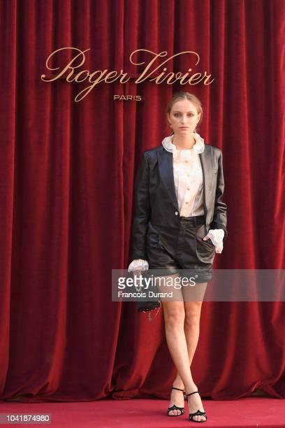 Larsen Thompson attends the Roger Vivier Presentation Spring/Summer 2019 during Paris Fashion Week on September 27 2018 in Paris France
