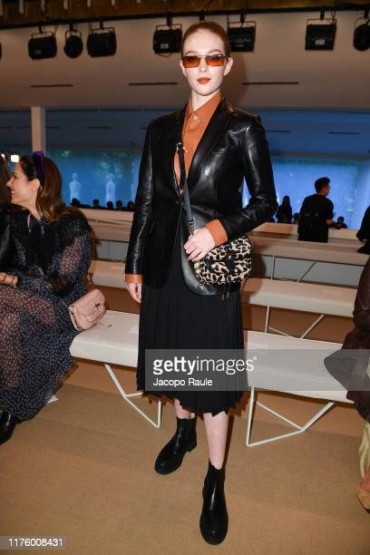 Larsen Thompson attends the Tod's fashion show during the Milan Fashion Week Spring/Summer 2020 on September 20, 2019 in Milan, Italy.