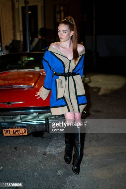 Larsen Thompson attends the TOMMYNOW New York Fall 2019 fashion show at The Apollo Theater on September 08, 2019 in New York City.