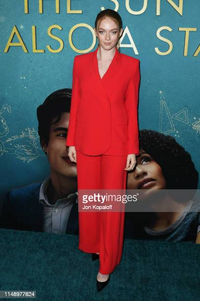 Larsen Thompson attends the World Premiere Of Warner Bros The Sun Is Also A Star at Pacific Theaters at the Grove on May 13 2019 in Los Angeles...