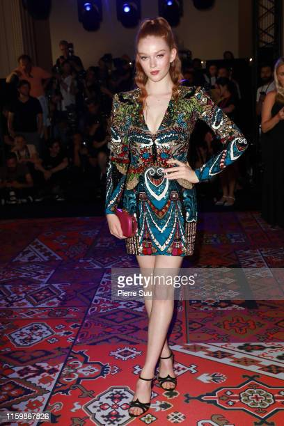 Larsen Thompson attends the Zuhair Murad Haute Couture Fall/Winter 2019 2020 show as part of Paris Fashion Week on July 03 2019 in Paris France