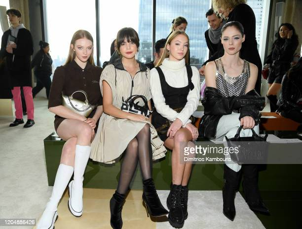 Larsen Thompson Bailee Madison Lila Grace Moss Hack and Coco Rocha attend the Longchamp Fall/Winter 2020 Runway Show at Hudson Commons on February 08...