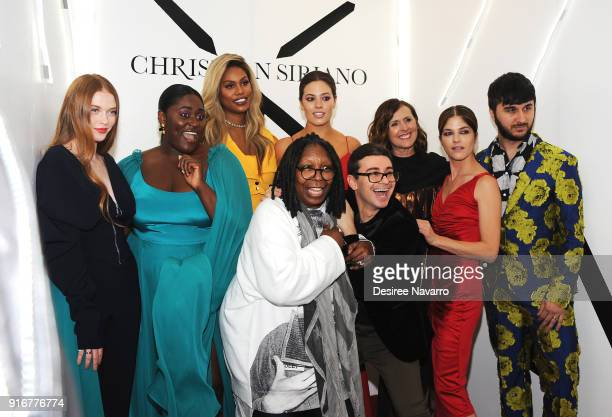 Larsen Thompson Danielle Brooks Laverne Cox Ashley Grahma Molly Shannon Selma Blair Brad Walsh designer Christian Siriano and Whoopi Goldberg pose...