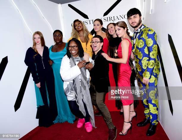 Larsen Thompson, Danielle Brooks, Whoopi Goldberg, Laverne Cox, Christian Siriano, Ashley Graham, Molly Shannon, Selma Blair, and Brad Walsh pose...