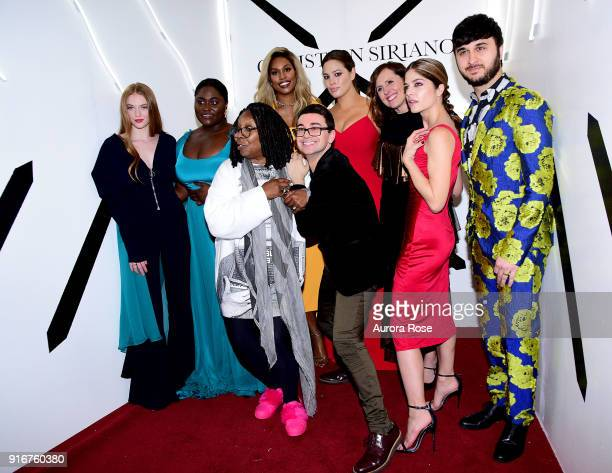 Larsen Thompson Danielle Brooks Whoopi Goldberg Laverne Cox Christian Siriano Ashley Graham Molly Shannon Selma Blair and Brad Walsh pose backstage...
