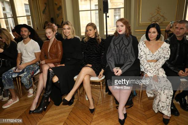 Larsen Thompson Karlie Kloss Shannon Purser and Alicia Silverstone attend the Christian Siriano Womenswear Spring/Summer 2020 show as part of Paris...