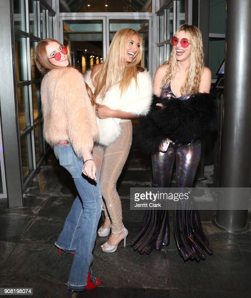 Larsen Thompson Montana Tucker and Lele Pons attend Montana Tucker's 25th Birthday Party at a Private Residence on January 20 2018 in Beverly Hills...