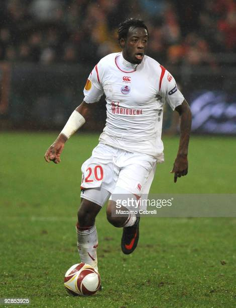 Larsen Toure of LOSC Lille Metropole in action during the UEFA Europa League Group B match between Genoa CFC and LOSC Lille Metropole at Luigi...