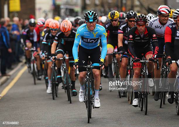 Lars-Petter Nordhaug of Norway and Team Sky rides during Stage 3 of the Tour of Yorkshire from Wakefield to Leeds on May 3, 2015 in Leeds, England.