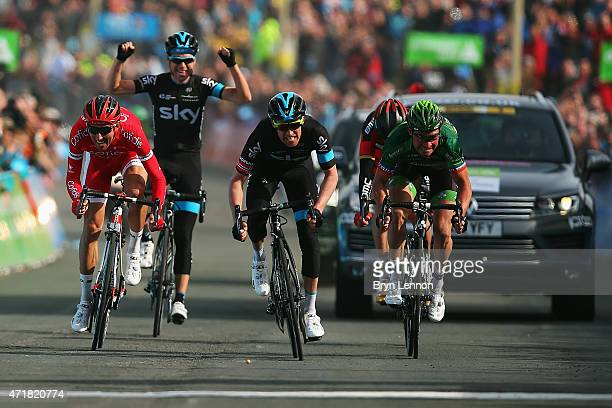 Lars-Petter Nordhaug of Norway and Team SKY sprints for the finish line on his way to winning stage one of the Tour de Yorkshire from Bridlington to...