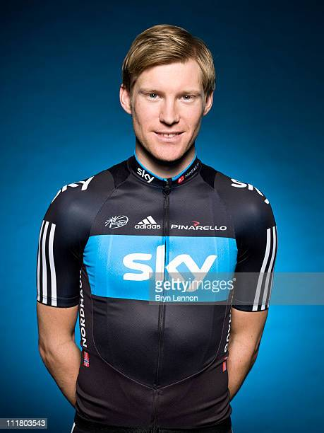 Lars-Petter Nordhaug of Team Sky poses for a portrait session ahead of the 2011 road season in Windsor, England.