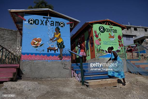 A lartine project led and financed by Oxfam at the tent camp where 55000 displaced Haitians are living on the grounds of what was the Club de...