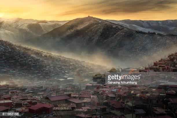 Larung Gar Buddhist Academy in Sichuan, China