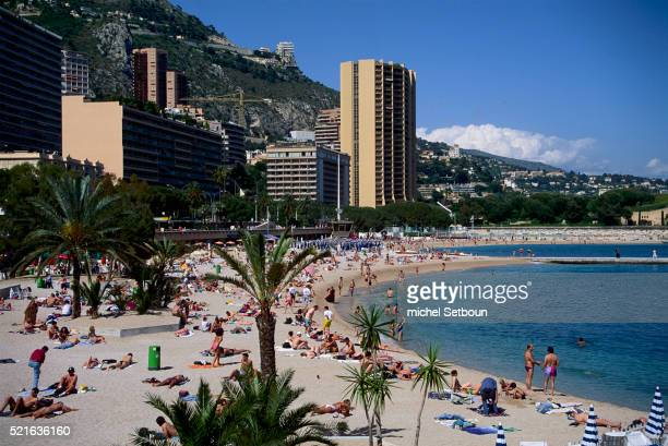 larvotto beach in monte-carlo - monaco stock pictures, royalty-free photos & images