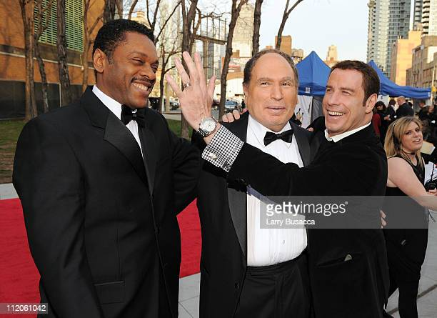 Larwence HiltonJacobs Gabe Kaplan and John Travolta attend the 9th Annual TV Land Awards at the Javits Center on April 10 2011 in New York City