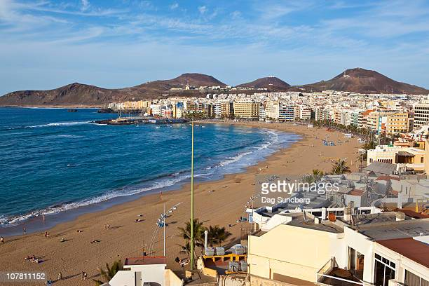 las canteras beach las palmas - las palmas de gran canaria stock pictures, royalty-free photos & images