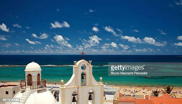 las canteras beach - las palmas de gran canaria stock pictures, royalty-free photos & images