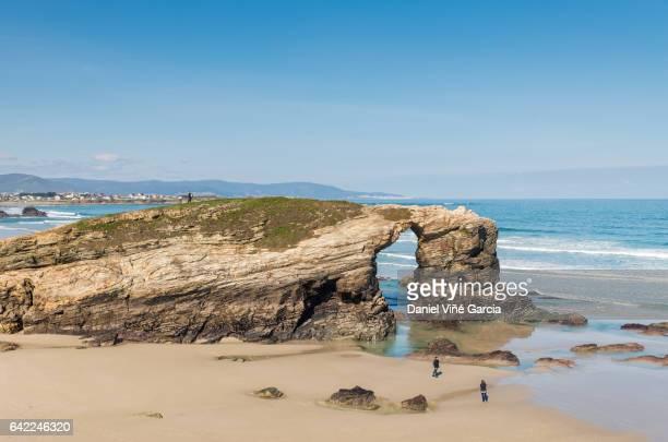 Las Catedrales beach in Galicia, Spain