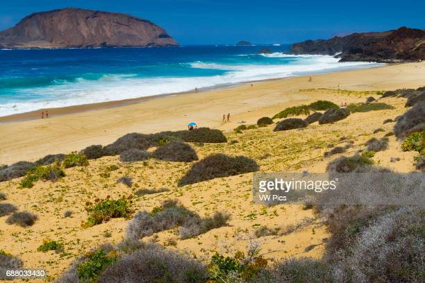 Las Conchas beach La Graciosa island Chinijo Archipelago Lanzarote Canary Islands Atlantic Ocean Spain