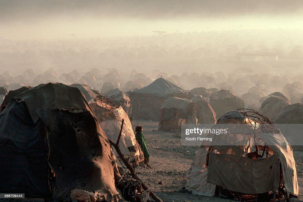 Las Dhure Refugee Camp : ストックフォト