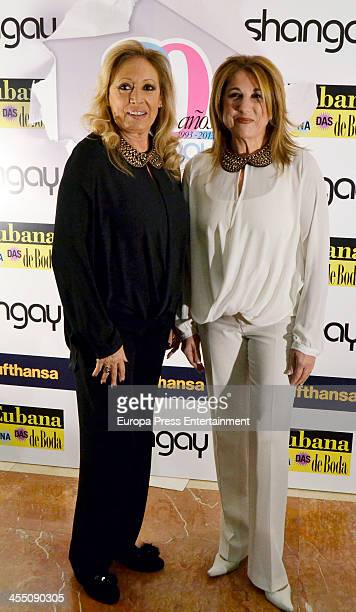 Las Grecas attend Shangay Magazine 20th Anniversary on December 10 2013 in Madrid Spain