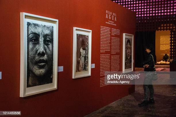 'Las hijas del agua' exhibition created with Ruven Afanador's photographs and intervened by the artist Ana Gonzáles that shows the culture of...