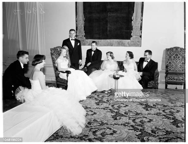Las Madrinas ball 21 December 1951 Patricia HazeWilliam AllenBetty PhelpsArthur KnutsonEdwin BrennanAnne AlexanderMarcia PatrickJames DouglasAnne...