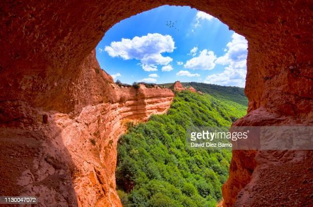 las médulas ancient roman mines, león (spain) - formación de roca stock pictures, royalty-free photos & images