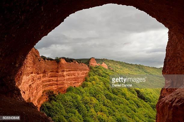 las médulas ancient roman mines, león (spain) - medulla stock pictures, royalty-free photos & images