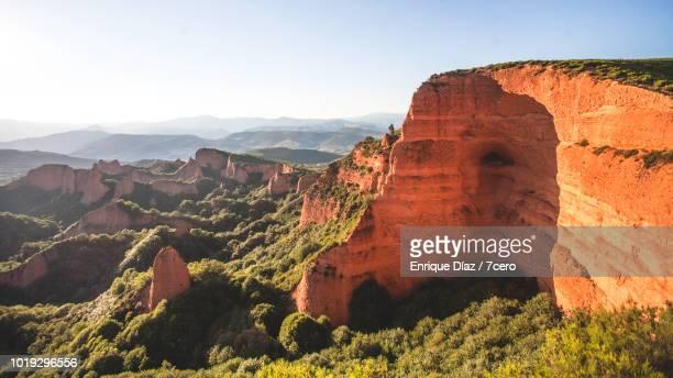 las médulas landscape - provinz leon stock-fotos und bilder