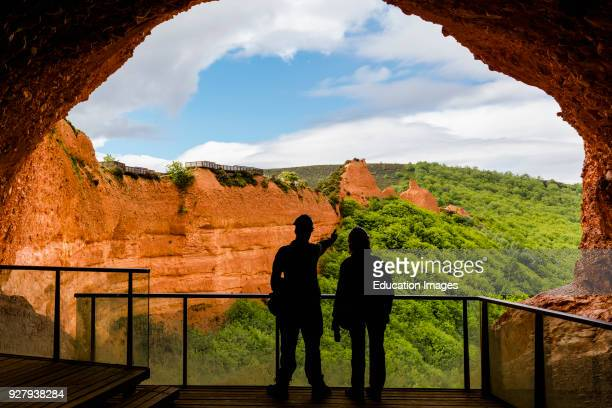 Las Medulas Leon Province Castile and Leon Spain The Orellan galleries The Roman gold mining site of Las Medulas is a UNESCO World Heritage Site The...