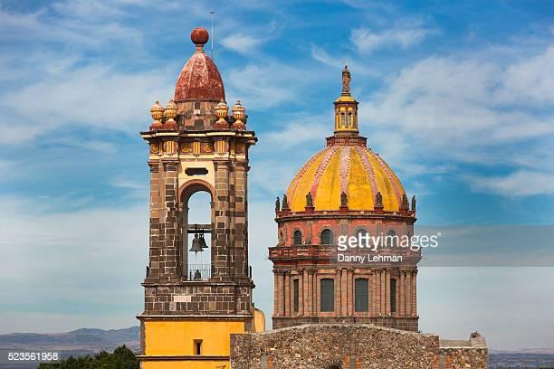 las monjas church, san miguel de allende, mexico - spire stock pictures, royalty-free photos & images