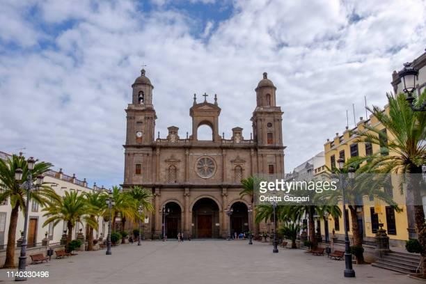las palmas de gran canaria, cathedral of santa ana - las palmas cathedral stock pictures, royalty-free photos & images