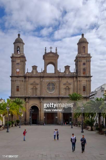 las palmas de gran canaria, cathedral of santa ana - las palmas cathedral stock photos and pictures