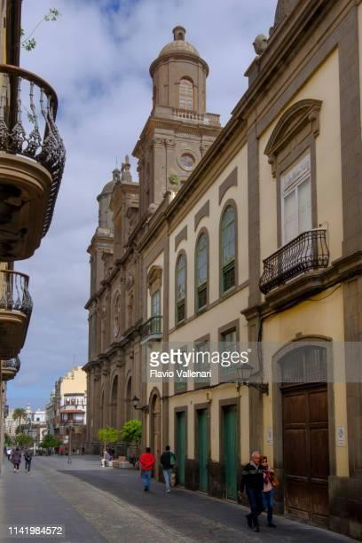 las palmas de gran canaria, the vegueta - las palmas cathedral stock pictures, royalty-free photos & images
