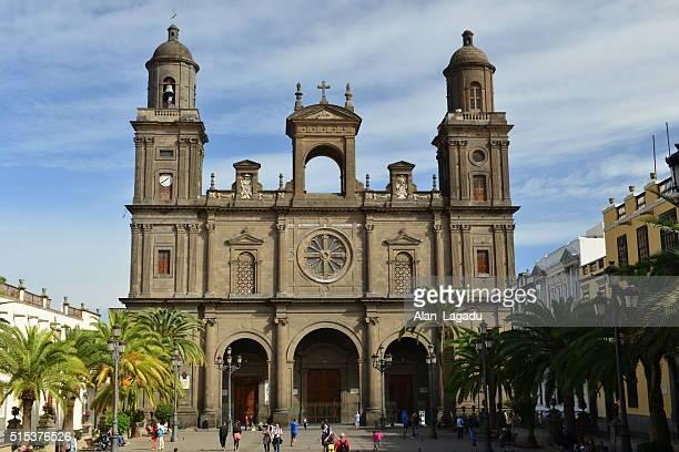 las palmas, gran canaria, spain. - las palmas cathedral stock photos and pictures