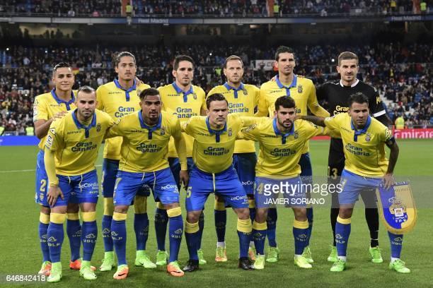 Las Palmas players defender David Simon Uruguayan defender Mauricio Lemos midfielder Vicente Gomez defender Daniel Castellano Betancor forward...