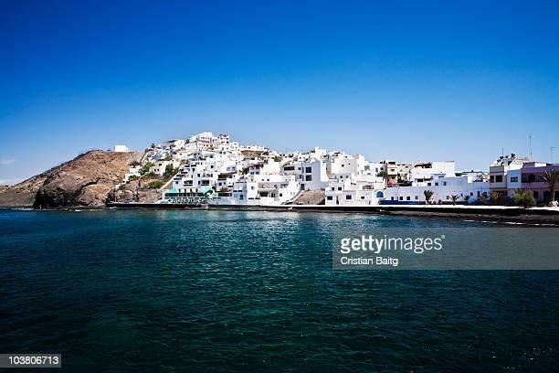 Las Playitas white town at the sea