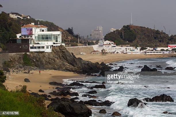 Las Salinas Beach on May 16 2015 in Vina del Mar Chile Vina del Mar will be one of the eight host cities of the Copa America Chile 2015