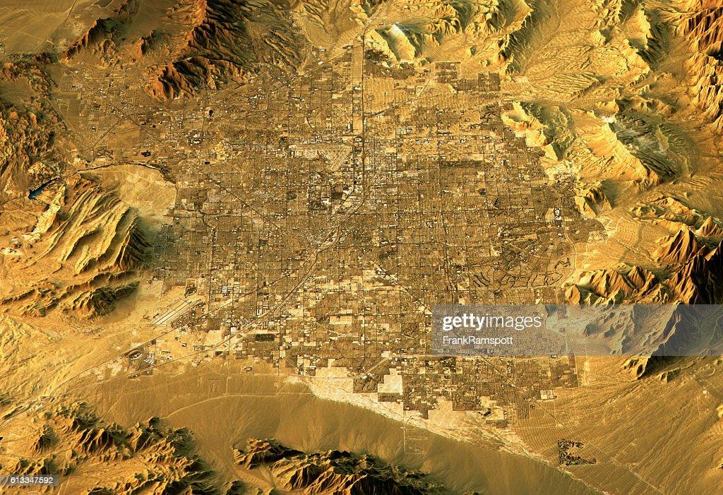Las Vegas mode paysage 3D nord au sud de la couleur : Photo