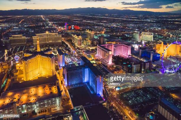 Las Vegas at Night Aerial View