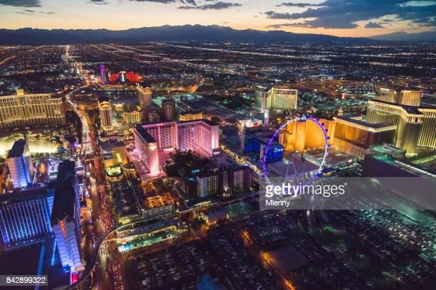 Las Vegas au Nevada USA de nuit